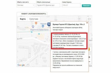 «ПОЛТАВАТЕПЛОЕНЕРГО» НАГАДУЄ: Шукайте актуальну інформацію про березневе теплоспоживання у «Мапі комерційного обліку»